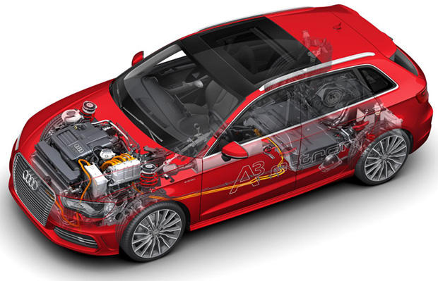 Audi-A3-etron-Innenleben