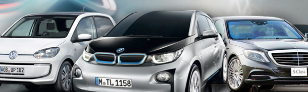 Elektroautos-IAA-Montage