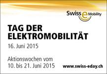 Erster Schweizer Tag der Elektromobilität am 16. Juni 2015
