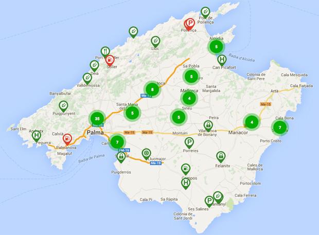 Ladepunkte gibt es durchaus viele auf Mallorca, vor allem in Palma. In kleineren Orten sind es allerdings oft Schuko-Anschlüsse für E-Bikes oder Wallboxen in Hotels.