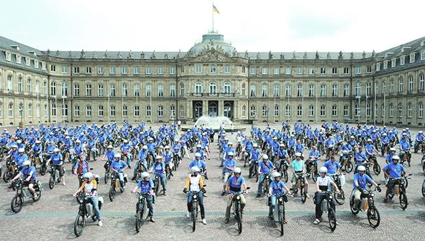 Mit den Elektronauten ging von 2010 bis 2011 die größte elektrische Testflotte Deutschlands auf Tour. Bild: EnBW