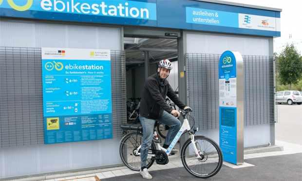 An 15 Haltepunkten in der Region Stuttgart sind attraktive Ausleihstationen für Pedelecs entstanden. Bild: e-mobil BW