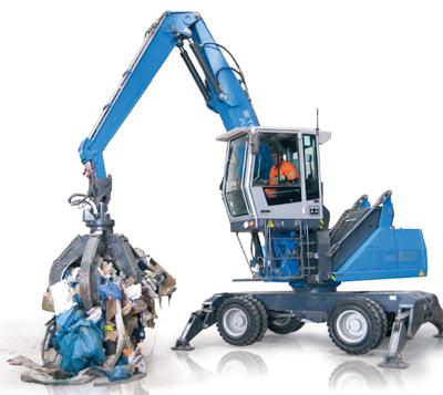Terex Fuchs MHL 820 im Einsatz. Bild: Hersteller