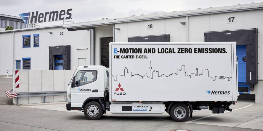 Fuso eCanter transmitted to first clients in Europe