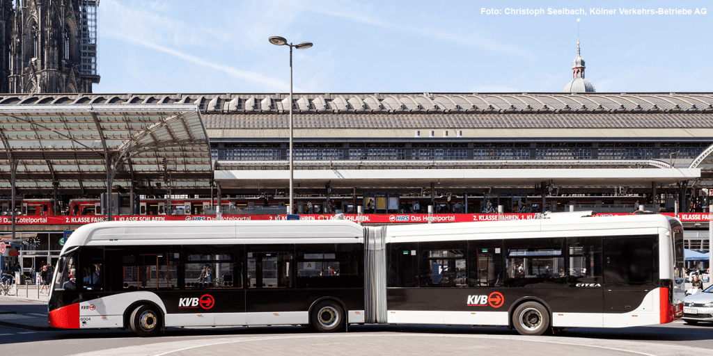 Köln: KVB errichten Lade-Carports für 53 Elektrobusse