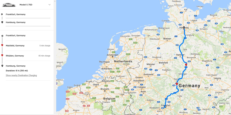 Tesla bringt Reiseplaner auf Basis von Google Maps - electrive.net
