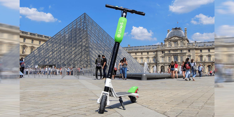 sharing anbieter lime startet mit e scootern in paris. Black Bedroom Furniture Sets. Home Design Ideas