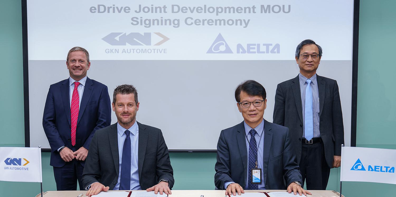 GKN Automotive und Delta Electronics entwickeln gemeinsam E-Antriebe