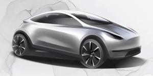 China: Tesla-Skizze eines unbekannten Kompaktautos
