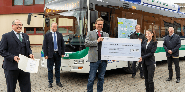 Bund fördert sieben E-Busse in Erlangen - electrive.net